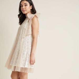 Time  & Grace Lace Dress in Champagne
